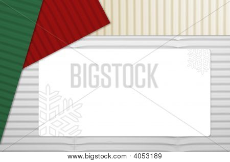 Holiday Corrugated Cardboard With Tag