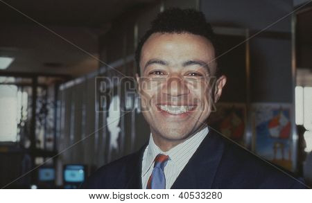 BRIGHTON, ENGLAND - OCTOBER 1: Paul Boateng, Labour party Member of Parliament for Brent South, attends the party conference on October 1, 1991 in Brighton, Sussex. He became Lord Boateng in 2010.