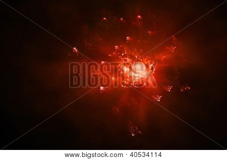 Firey Outer Space Explosion