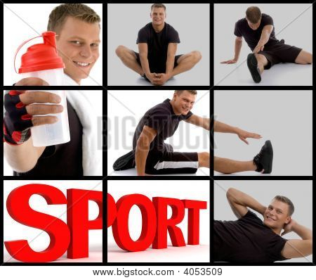 Handsome Sport Guy Showing Sipper Bottle