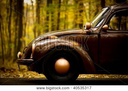 Autumn Vintage Car