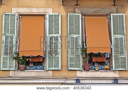French Riviera, Nice. Typical architectural details