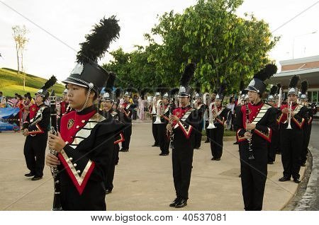 Musicians in Monarchist Rally, Thailand
