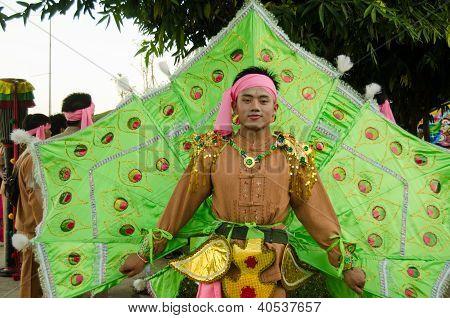 Peacock Man, Chiang Mai Parade