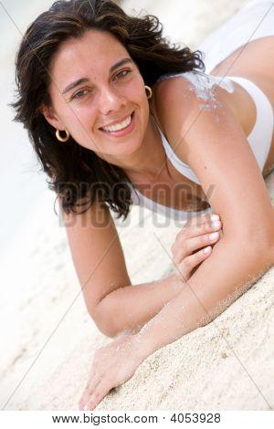 Beach Woman Relaxing