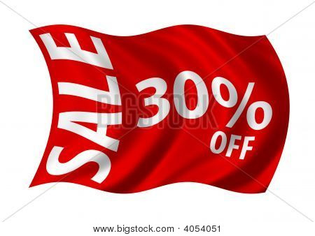 Sale 30% Off Flag