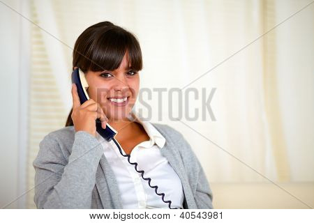 Stylish Young Woman Speaking On Phone