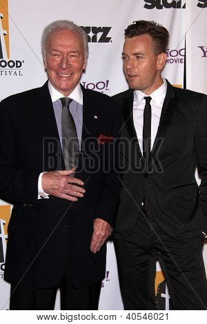 LOS ANGELES - OCT 24:  CHRISTOPHER PLUMMER & EWAN McGREGOR arriving to 15th Annual Hollywood Film Awards Gala  on October 24, 2011 in Beverly Hills, CA