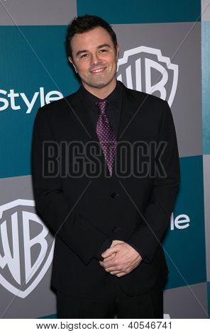 LOS ANGELES - JAN 15:  SETH MacFARLANE arriving to Golden Globes 2012 After Party: WB / In Style  on January 15, 2012 in Beverly Hills, CA