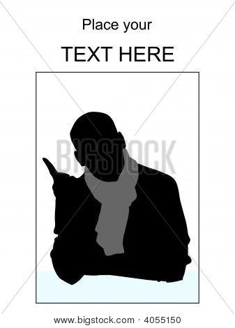 Man With Muffler Pointing Sideways
