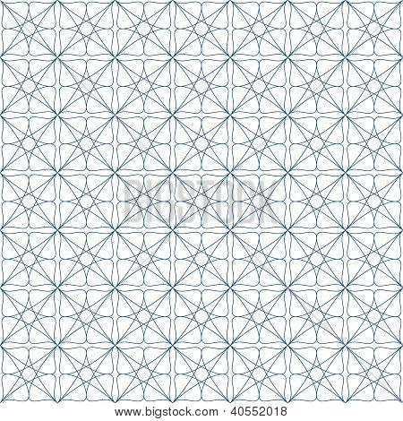 Vector seamless blue guilloche background