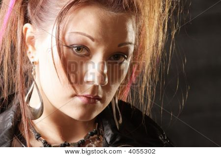 Punk Girl Face