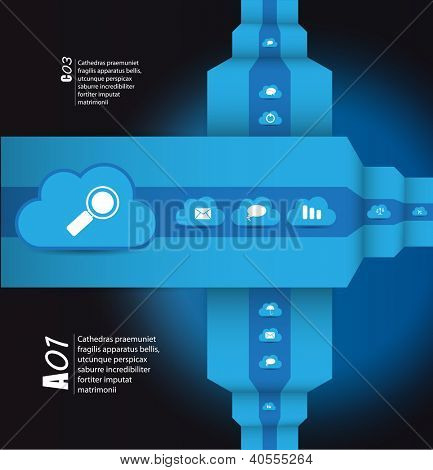 Cloud computing concept. Vector illustratio