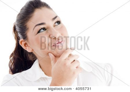 Young Attractive Woman Thinking