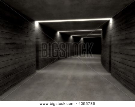 Concrete Tunnel Background