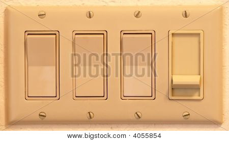 Quadruple Light Switch