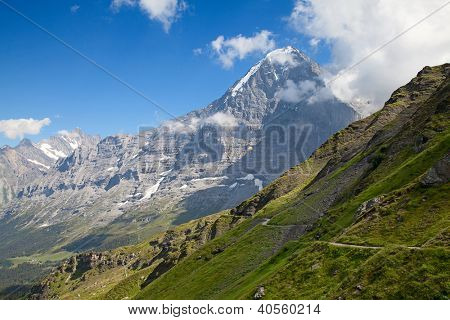 Famous mount Eiger in the Jungfrau region
