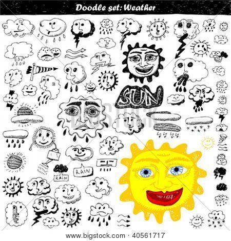 Doodle set - weather