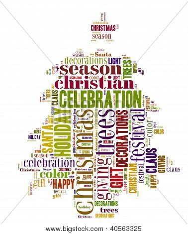 Word Cloud of Christmas Tree