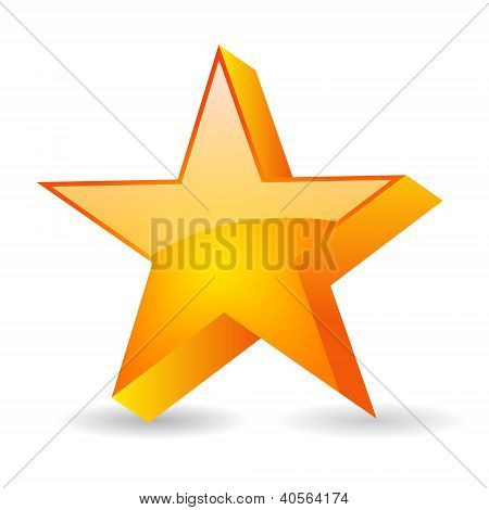 Vector glass star illustration