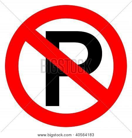 No parking sign vector illustration