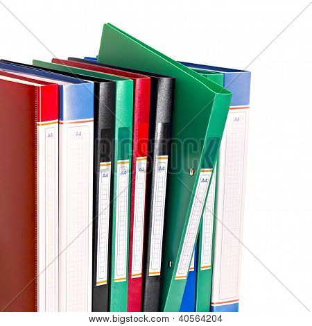 Office Document Folders Standing In A Row