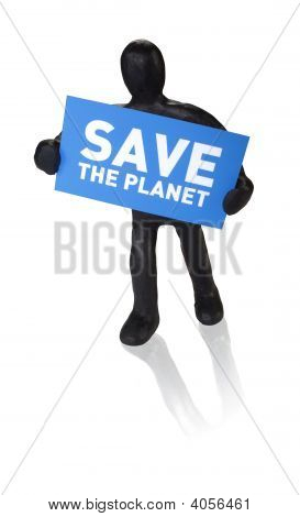 Man With Plate Save The Planet