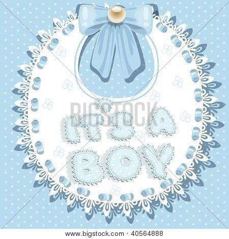 it`s a boy baby shower on bib