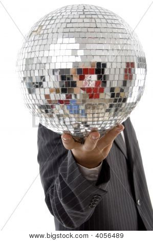 Young Guy Hidden His Face With Disco Ball