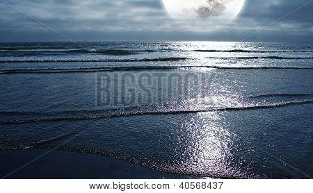 Océano y la luna