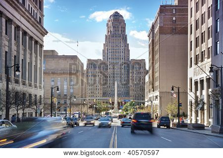 Buffalo City Hall And Its Surrounding.