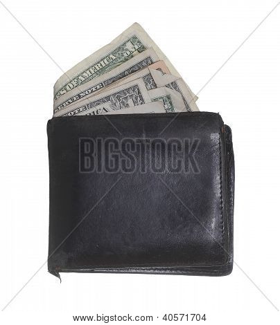 Hackneyed Purse With Dollars