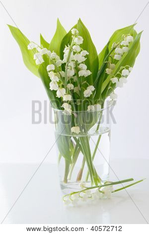 lilies-of-the-valley in glass