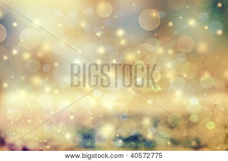 Abstract Holiday Background, Beautiful Shiny Christmas Lights, Glowing Magic Bokeh. Please Check Por