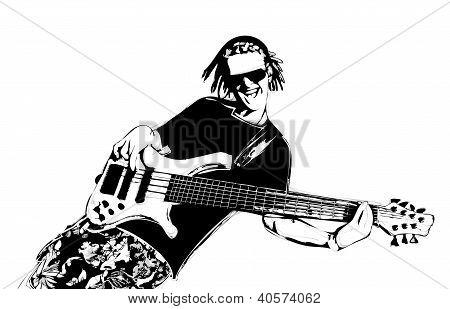 Guitarist With Dreadlocks