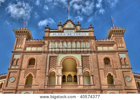 Madrid, Spain - September 30, 2012: Plaza De Toros De Las Ventas. On September 30 In Madrrid, Spain.