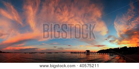Sihanoukville sunset, Cambodia
