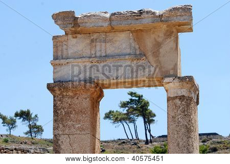 Remains of an ancient greek temple, Rhodes, Greece