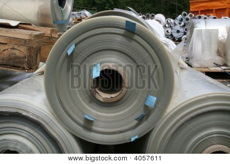 Close Up Of Plastics Rolls