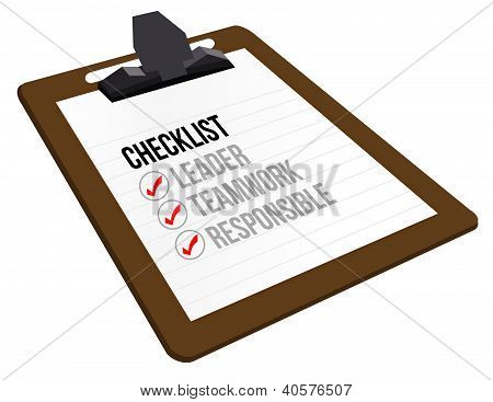 Business Checklist Clipboard