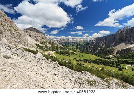 Val Badia From Gardena Pass