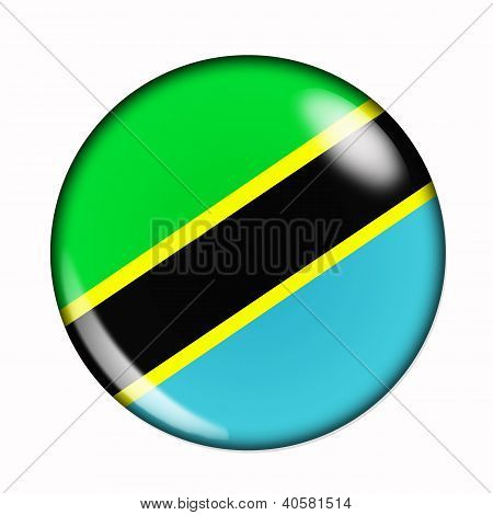 Button Flag Of Tanzania