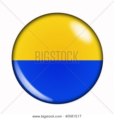 Button Flag Of Ukraine