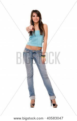 Young Charming Brunette Woman