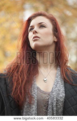 Young Woman With Beautiful Auburn Hair