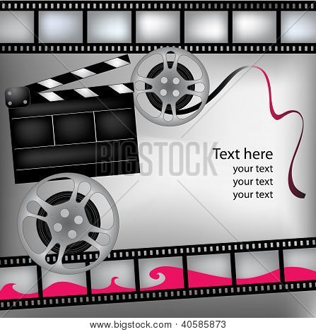 Background With Film And Clubboard