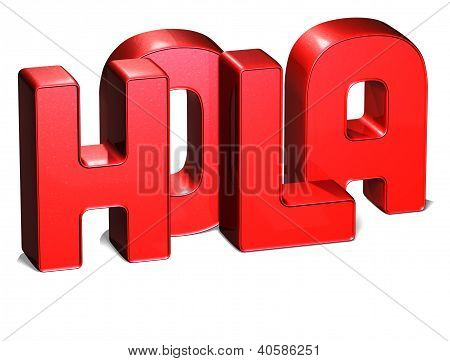 3D Word Hello On White Background