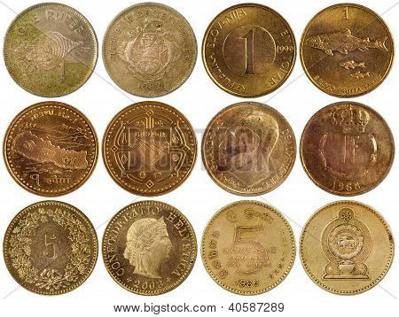 Vintage Rare Coins Of Different Countries