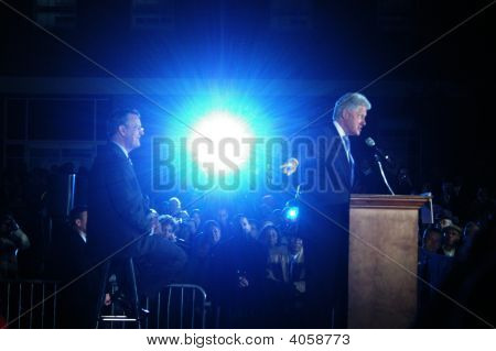 President Clinton And Senate Candidate Jim Martin