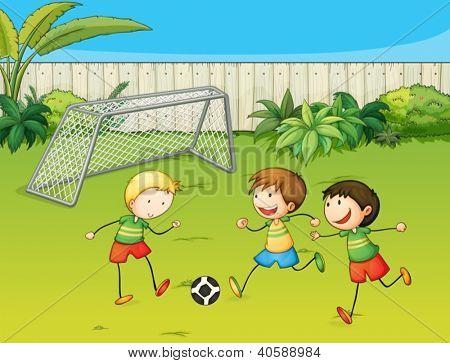 Vectores y fotos en stock de Ilustración de niños jugando al ...